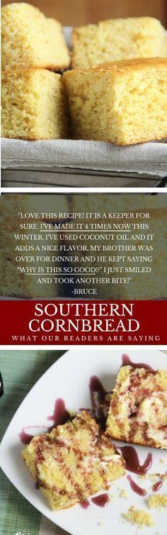 Southern cornbread recipe, Cornbread recipes and Husband love on ...