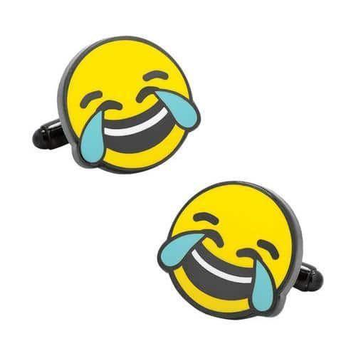 Men's Cufflinks Inc Tears of Joy Emoji Cufflinks