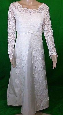 Vintage Int. Ladies Garment Workers Union Lace Wedding Dress Size 14