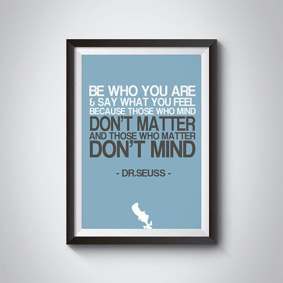 DR.Seuss Quotes Be Who You ArePrintable artInstant by GreyGallery