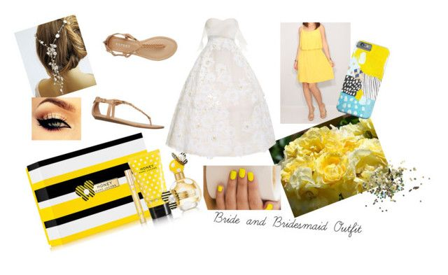 """Yellow Bride and Bridesmaid Outfit"" by dreamygal789 on Polyvore"