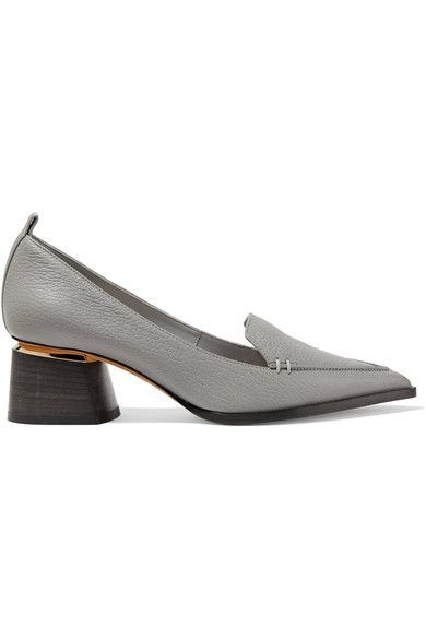 Nicholas Kirkwood - Beya Textured-leather Pumps - Dark gray