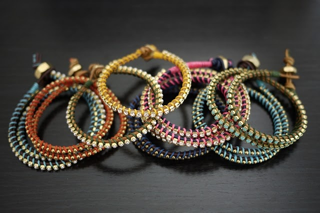 DIY Wrap Bracelets -- so simple!  We have to do this @Michele Weitz.