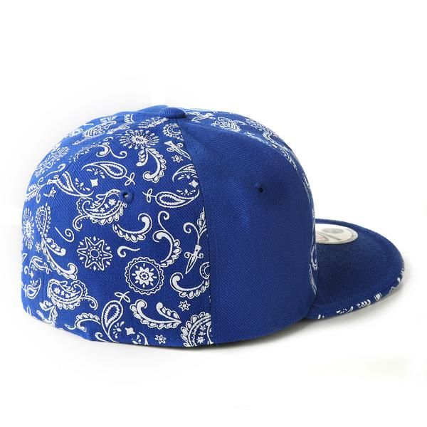 Bandana Print on Fitted Pro-Baseball Style Caps made from 100% Acrylic Wool.