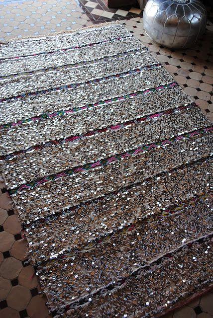 Silver Glitter Rug Uniquely Modern Rugs