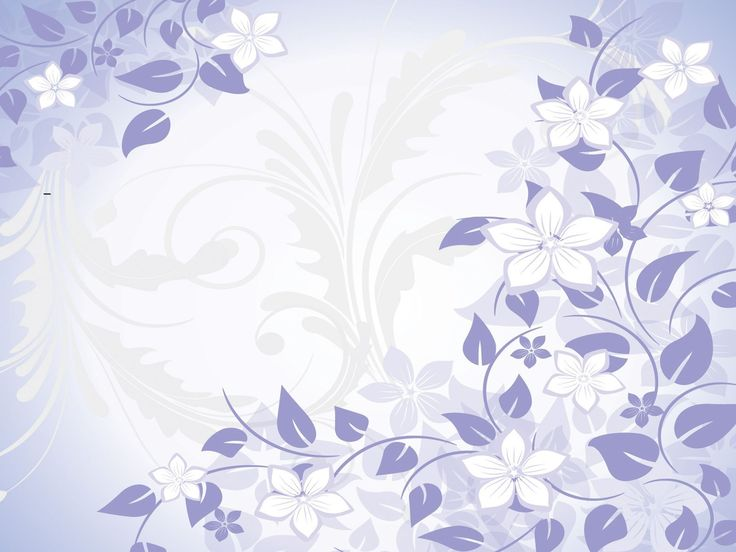 Blue Flowers Spring Powerpoint Templates  Blue Flowers Fuchsia