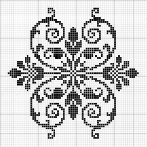 Other 08 | Free chart for cross-stitch, filet crochet | gancedo.eu                                                                                                                                                     Mehr