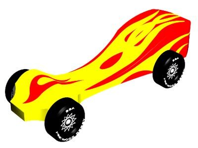 Pinewood Derby Car Design - Spitfire