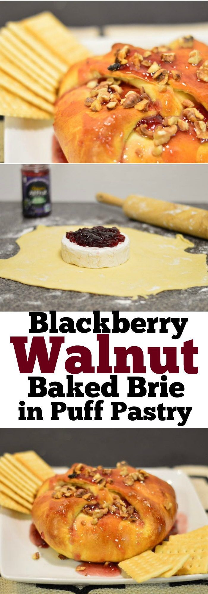 You have to try this Blackberry Walnut Baked Brie in Puff Pastry! It's the perfect game day snack, appetizer, or side dish. If you love cheese, this is a must try. Simple, smooth, and rich in flavor.