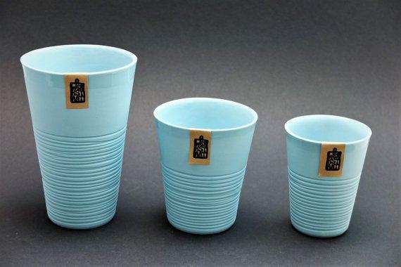 Mint green porcelain mug contemporary ceramics modern by WerkStaat