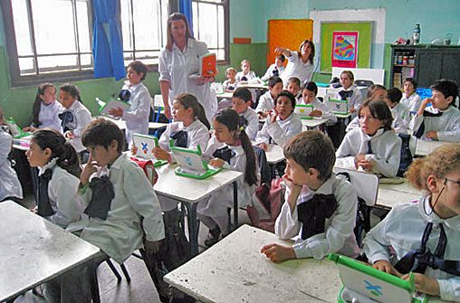 Uruguay managed it. All public schools have Internet access, available through a WiFi connection, and each student has a notebook computer.