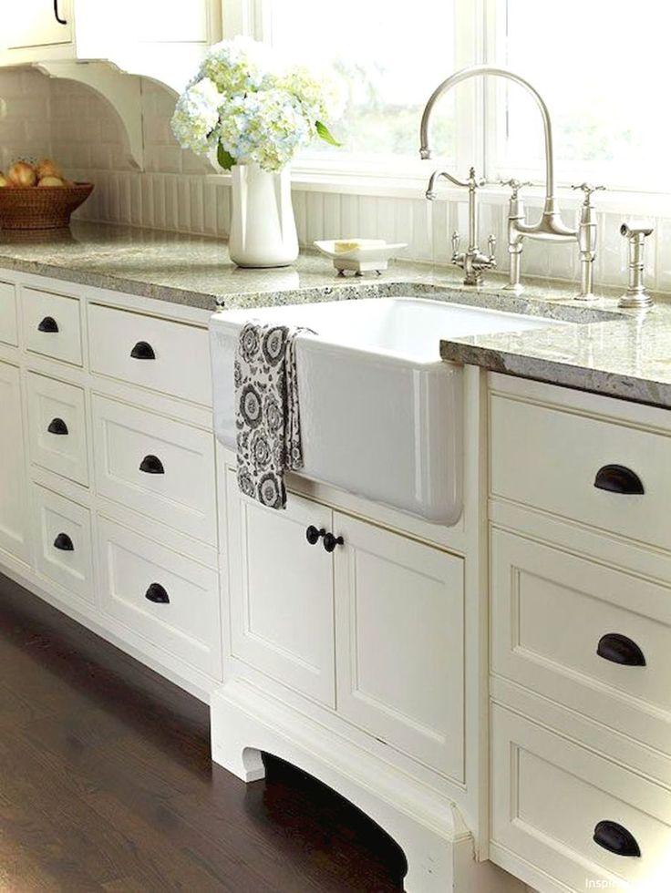 69 Luxury White Cottage Kitchen Cabinets Ideas 55