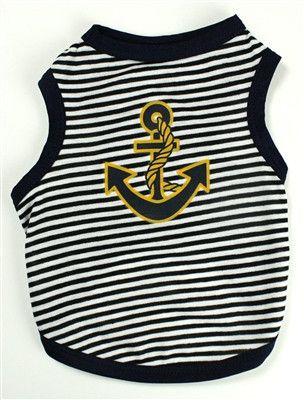 Sailor Striped Tank - Black & White