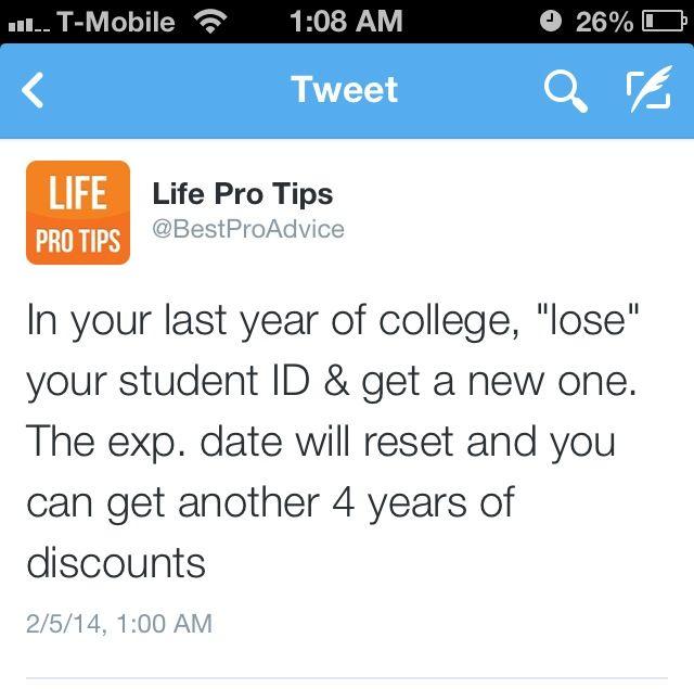 College tip