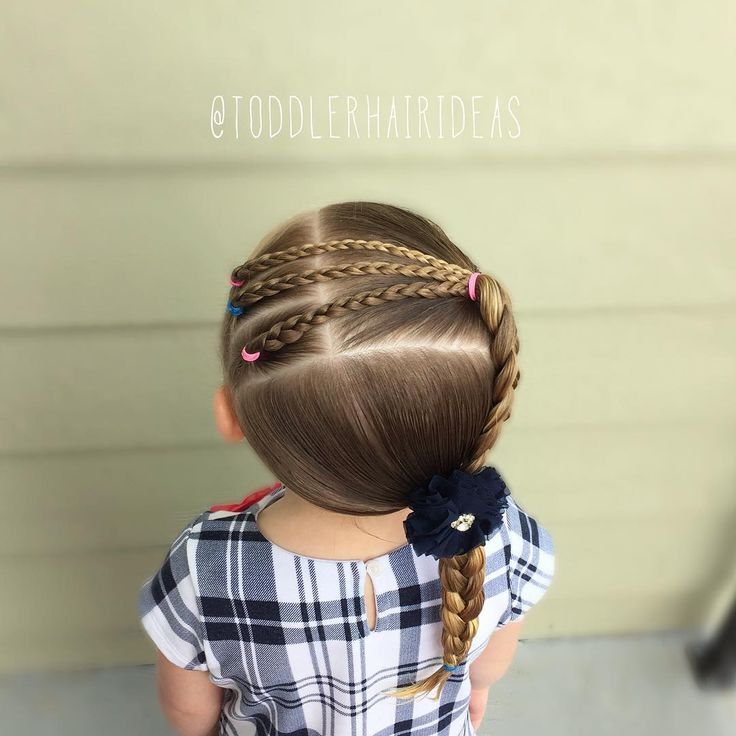 "Cami Toddler Hair Ideas en Instagram: ""Today I did 3 little braids into a bigger braid into an even bigger braid! This one was FAST and so easy! I was inspired by a mix of styles…"""