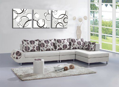 Best Buy Abstract black and white bubble wall D¨¦cor Art Canvas Print Set of 3... Visit Site or click on the image for more details, reviews and price comparison.