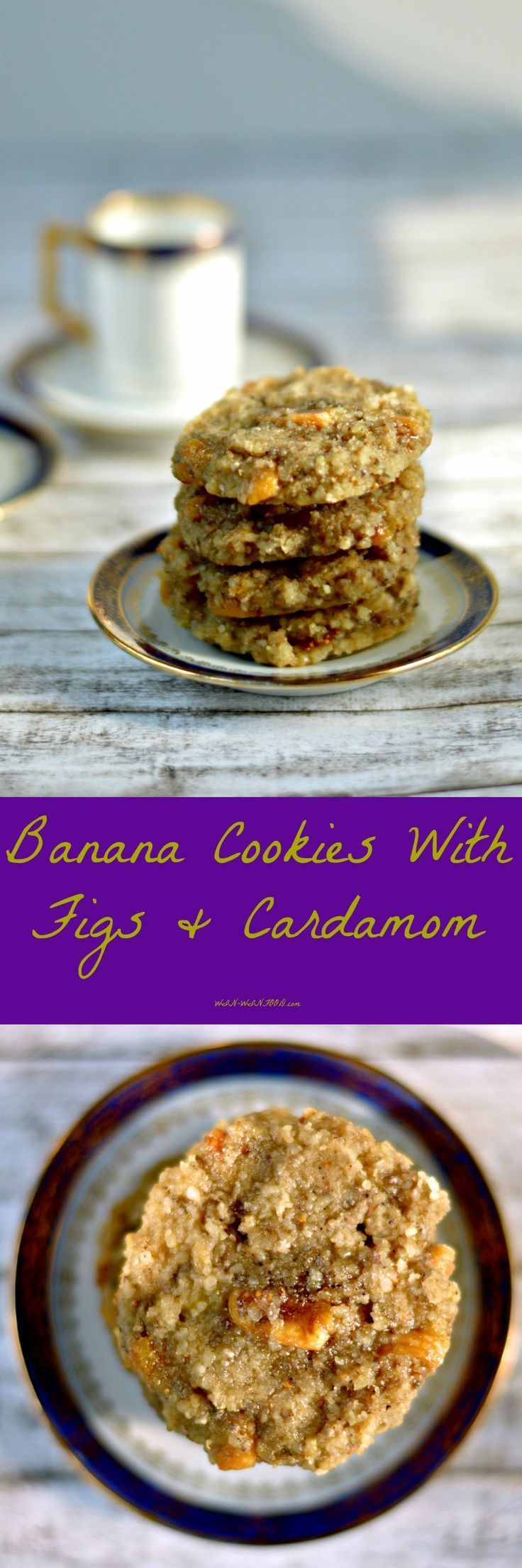 Banana Cookies with Figs and Cardamom (just don't bake for the raw version?)