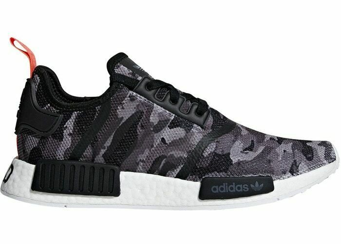 Ad Ebay Adidas Nmd R1 Men S 10 13 Grey Solar Red Camo Pack