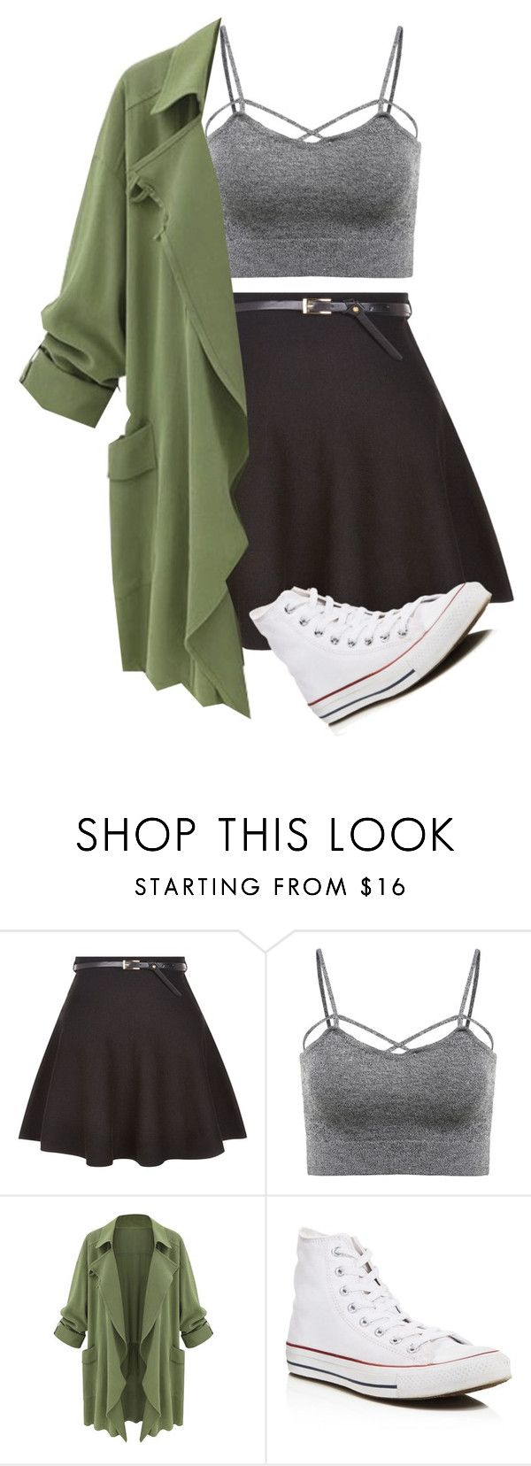"""""""Adios Amigos"""" by addietay ❤ liked on Polyvore featuring New Look and Converse"""