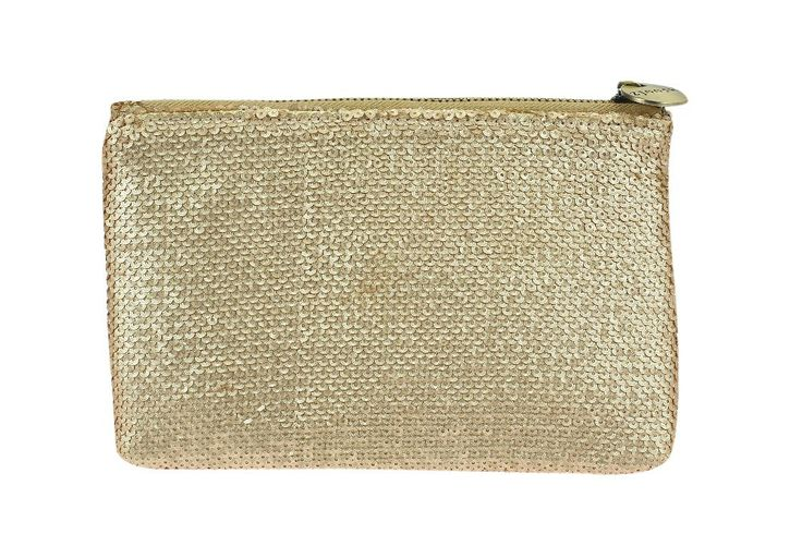 Sequin Clutch Matte Gold