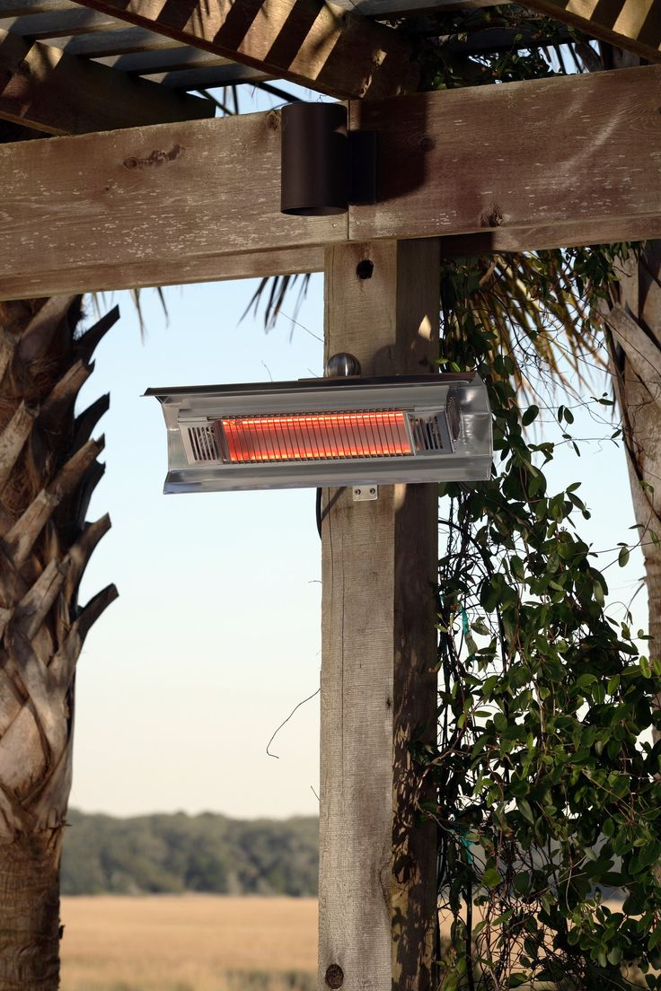 Electric Patio Heater   Fire Sense Stainless Steel Wall Mounted Infrared Patio  Heater (#02110