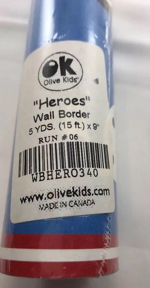 "Olive Kids Heros Wall Border Trucks 15' X 9"" Fire Ambulance Police Dalmatian Dog  