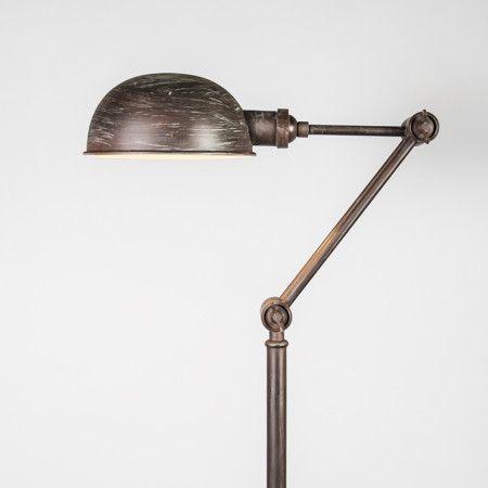 L mpara de pie malwa color xido interiorismo - Iluminacion estilo industrial ...