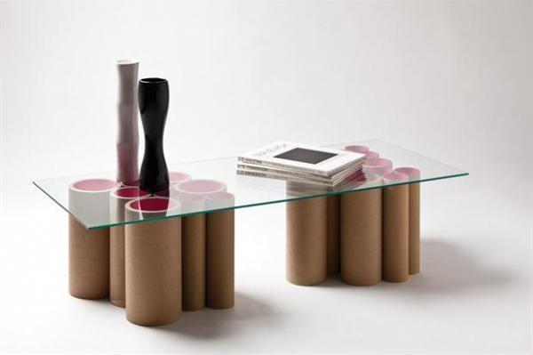 Muebles carton piedra tubos de carton reciclado - Muebles de carton ...