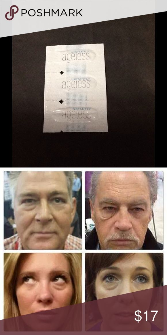 3 sachets Instantly Ageless. Original from Jeunesse Global. 3 sachets. Within 2 minutes, reduces the appearance of under eyeballs, fine lines, wrinkles and pores, and last 3 to 6 hours. 10 years younger in to 2 minutes!!!! Makeup