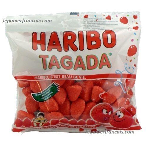 Le Panier Francais - French Tagada Strawberry Haribo Candy, $2.89 (http://www.lepanierfrancais.com/french-tagada-strawberry-haribo-candy/)