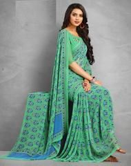 Green Color Georgette Office Wear Sarees : Sampada Collection YF-64289