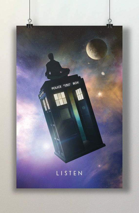 Buy now! Doctor Who Meditation on Police Box Listen Space by TheArtEye