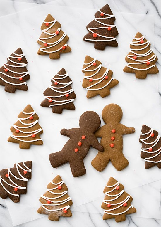 """So perfect for the holiday season! // """"Classic Gigngerbread Cut Out Cookies""""   LoveandOliveOil.com #recipe"""