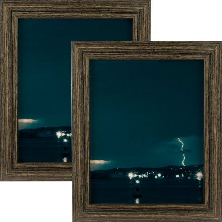 Craig Frames Bauhaus 125, Modern Black Tan Oak Picture Frame, 8.5x11 Inch, Set of 2, Beige