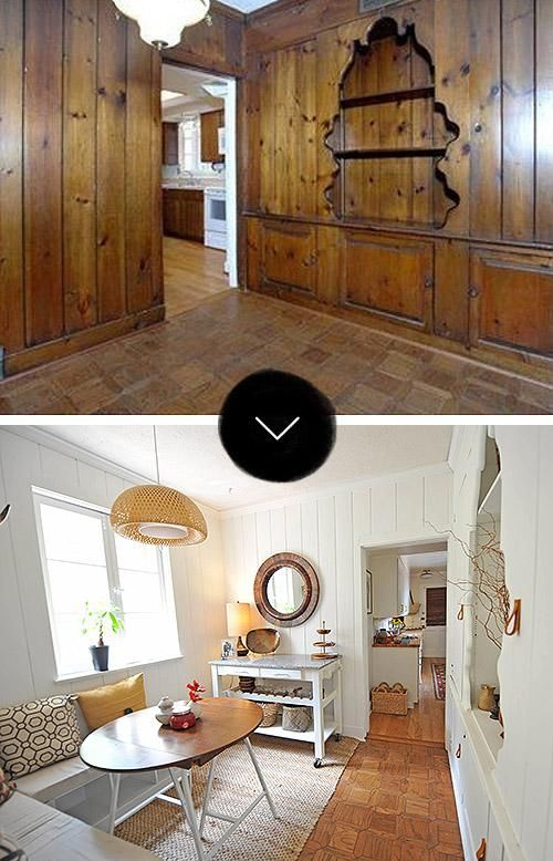 Painting Wood Paneling: Paneling Makeover, Wood Paneling
