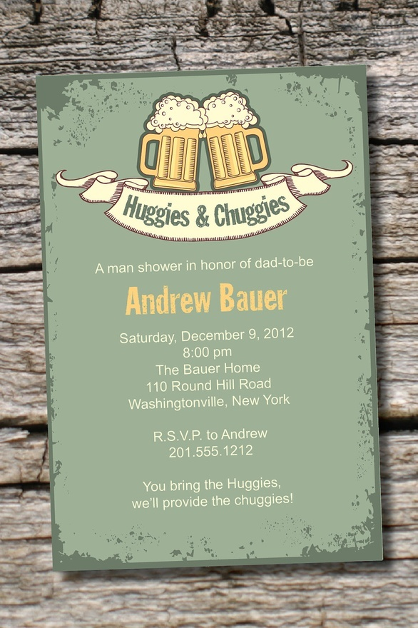 baby shower bbq invitation templates%0A Vintage HUGGIES CHUGGIES bbq  beer and babies Diaper Party Invitation  Printable diy Customizable          Baby Shower CardsBaby