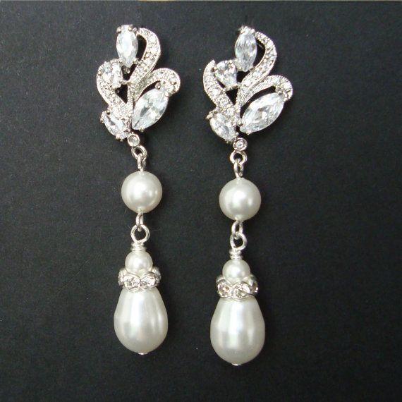 Orecchini da sposa vintage filigrana d'argento di luxedeluxe