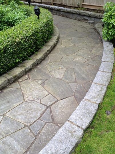 Create a beautiful walkway with the natural stones and for Natural stone walkways