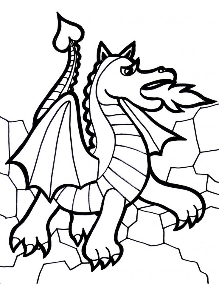 dragon knight coloring pages - photo#27