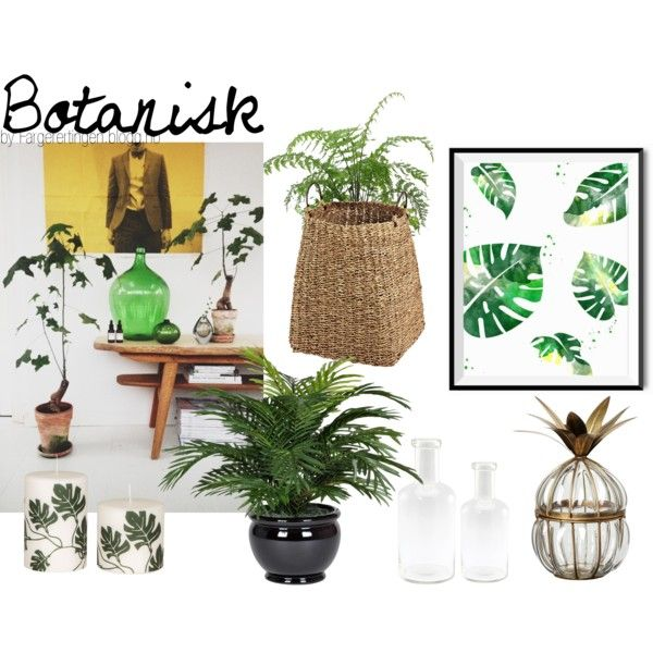 Botanisk by fargerertingen on Polyvore featuring interior, interiors, interior design, home, home decor, interior decorating, Broste Copenhagen and Korg
