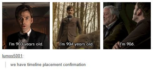 Timeline placement for The Day of The Doctor!