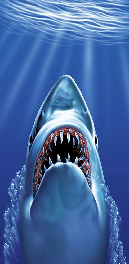 Menace Great White Shark Jaws Pool Bath Beach Souvenir Cotton Towel 30X60 NEW | Home & Garden, Bath, Towels & Washcloths | eBay!
