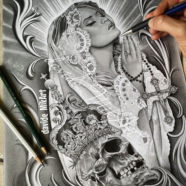 Pencil drawing titled 'Corruption of Faith' by @davidemikart  http://ift.tt/16Wfb3Q digital books | vectors | fonts | art supplies by illustratedmonthly