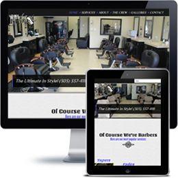 1st Class Barbers website built with Wordpress using responsive web design.