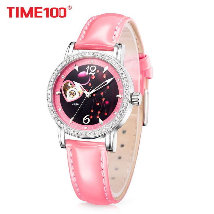 TIME100 Women Mechanical Watches 12 Constellation Automatic Skeleton Watch waterproof Diamond Star Leather Strap Wristwatch XFCS #Skeleton watches http://www.ku-ki-shop.com/shop/skeleton-watches/time100-women-mechanical-watches-12-constellation-automatic-skeleton-watch-waterproof-diamond-star-leather-strap-wristwatch-xfcs/