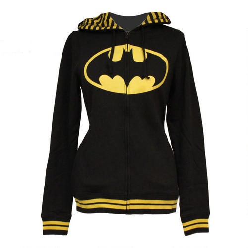 One of my favorite discoveries at ShopDCEntertainment.com: Batman Women's Fitted Hooded Sweatshirt