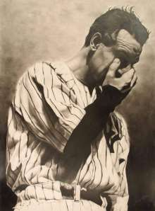 """Lou Gehrig, in his """"Luckiest Man"""" speech, 1939 #baseball #historicmoments #gehrig"""