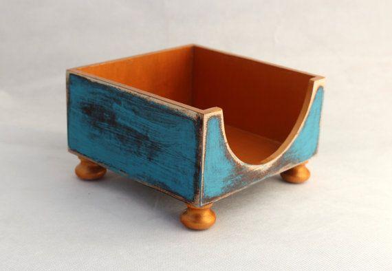 FREE SHIPPING  NAPKIN holder / Wooden napkin by ClockWoodStudio