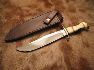 Original-Morseth-Custom-Bowie-Knife-Awesome-Stag-Handle-New-Sheath
