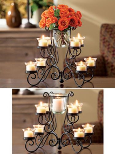 Decor Glass Candle Holder Centerpiece Candelabra Vase